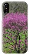 Redbud And Field In Jefferson County IPhone Case