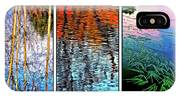 Reflecting On Autumn - Triptych IPhone Case