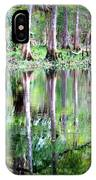 Reflection Of Cypress Trees IPhone Case