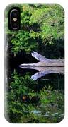 Reflection Off The Withlacoochee River IPhone Case
