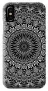 Regalia Black And White No. 4 IPhone Case