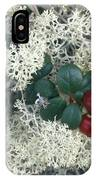 Reindeer Lichen And Low-bush Cranberry IPhone Case