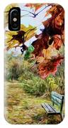 Relax And Watch The Leaves Turn IPhone Case