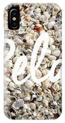 Relax Seashell Background IPhone Case