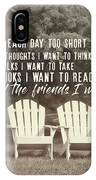Relaxing On The Cape Quote IPhone Case