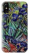 replica of Van Gogh irises IPhone Case
