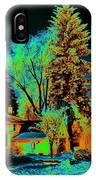 Residential Spokane In Cosmic Winter IPhone Case
