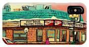 Restaurant Greenspot Deli Hotdogs IPhone Case