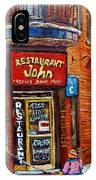 Restaurant John Montreal IPhone Case