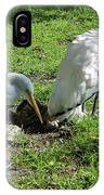 Resting Wood Stork And White Egret IPhone Case