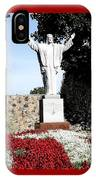 Resurrection Of Jesus Statue IPhone Case by Rose Santuci-Sofranko