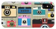 Retro Camera Pattern IPhone Case