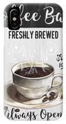 Retro Coffee Shop 2 IPhone X Case
