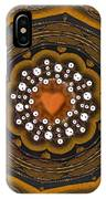 Retro Peace With Love And A Heart Of Gold IPhone Case