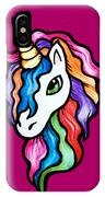 Retro Rainbow Unicorn IPhone Case