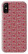 Retro Red Pattern IPhone Case