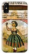 Retro Tobacco Label 1868 C IPhone Case