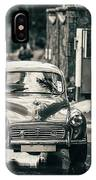 Retromobile. Morris Minor. Vintage Monochrome IPhone Case