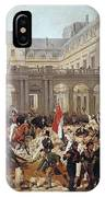 Revolution Of 1830 Departure Of King Louis-philippe For The Paris Townhall Horace Vernet IPhone Case