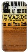 Reward For Frank And Jesse James IPhone Case