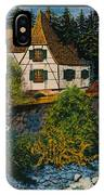 Rhine River Cottage IPhone Case
