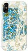 Rhode Island State Map Geometric Abstract Pattern IPhone Case