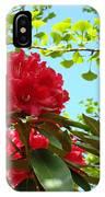 Rhodies Art Prints Red Rhododendron Floral Garden Landscape Baslee IPhone Case