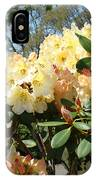 Rhodies Flowers Art Yellow Orange Rhododendrons Garden IPhone Case