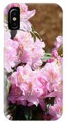 Rhododendron Flower Garden Art Prints Canvas Pink Rhodies Baslee Troutman IPhone Case