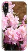 Rhododendron Garden Art Print Pink Rhodies Flowers Baslee Troutman IPhone Case