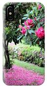 Rhododendrons Blooming Villa Carlotta Italy IPhone Case