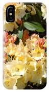 Rhododendrons Garden Art Prints Creamy Yellow Orange Rhodies Baslee IPhone Case