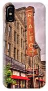 Rialto Square Theatre IPhone Case