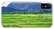 Rice Paddies And Mountains IPhone Case