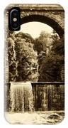 Ridge Avenue Falls Along The Wissahickon Creek IPhone Case