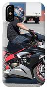 Riding On Handle Bars IPhone Case