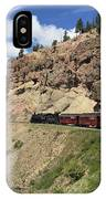 Riding The Cumbres And Toltec IPhone Case