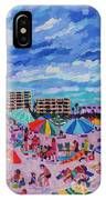 Right Panel Of Triptych Busy Relaxing IPhone Case