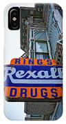 Ring's Rexall Drugs  IPhone Case