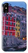 Riomaggiore In Cinque Terre Italy Painterly IPhone Case