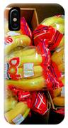 Ripe Bananas In A Box At The Store IPhone Case