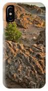 Ripple Boulders At Sunset In Bentonite Quarry IPhone Case