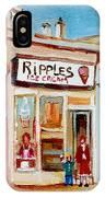 Ripples Icecream  IPhone Case