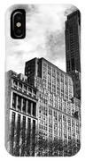 Rising In Manhattan Mono IPhone Case