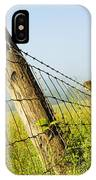 Rising Mist With Falling Fence IPhone Case