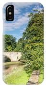 River Coquet Flows Under Warkworth Bridge IPhone Case