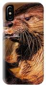 River Otter With His Catch Of The Day IPhone Case