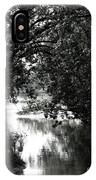 River Passage In Black And White IPhone Case