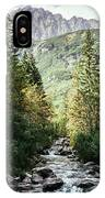 River Stream In Mountain Forest IPhone Case
