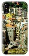 Riviera Hill Town Italy IPhone Case